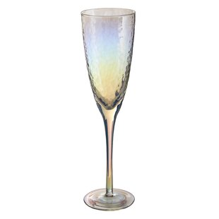 Glass 260ml Champagne Flute (Set of 4) by Symple Stuff