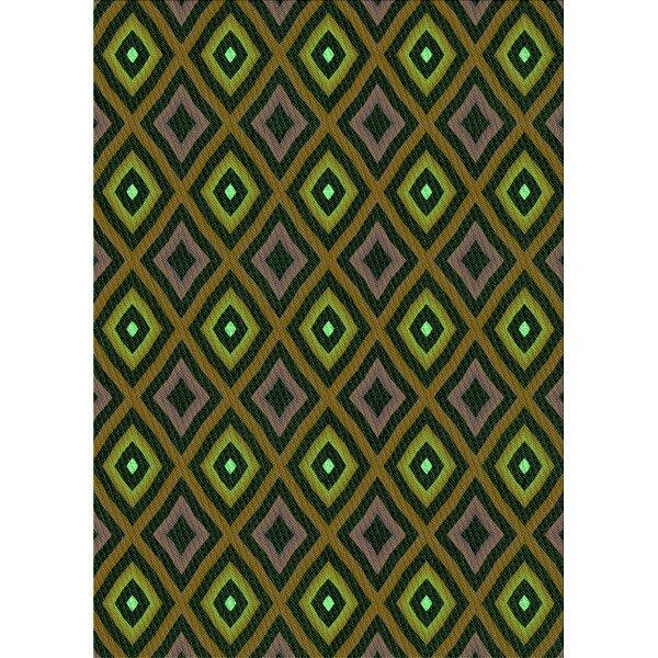 East Urban Home Geometric Wool Green Yellow Area Rug Wayfair