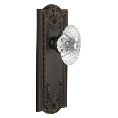 Double Dummy Grandeur Fifth Avenue Plate with Versailles Crystal Knob Timeless Bronze