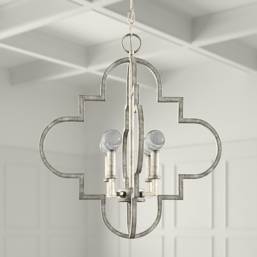 Andersen 4 Light Candle Style Geometric Chandelier Reviews Joss Main