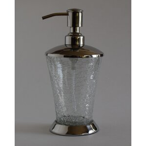Darien Hand Crafted Crackle Glass Soap Dispenser Bathroom Accessories You ll Love  Wayfair
