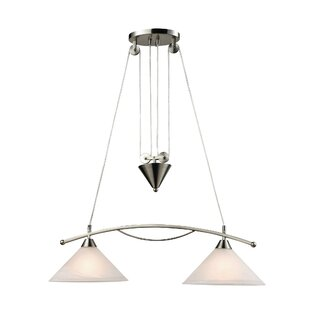 Beecroft 2-Light Metal Kitchen Island Pendant by World Menagerie