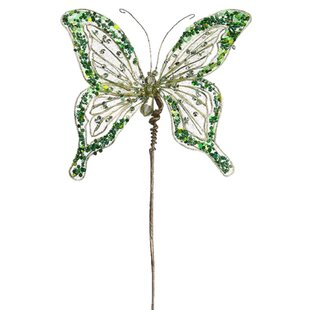 princess butterfly jeweled beaded floral craft pick