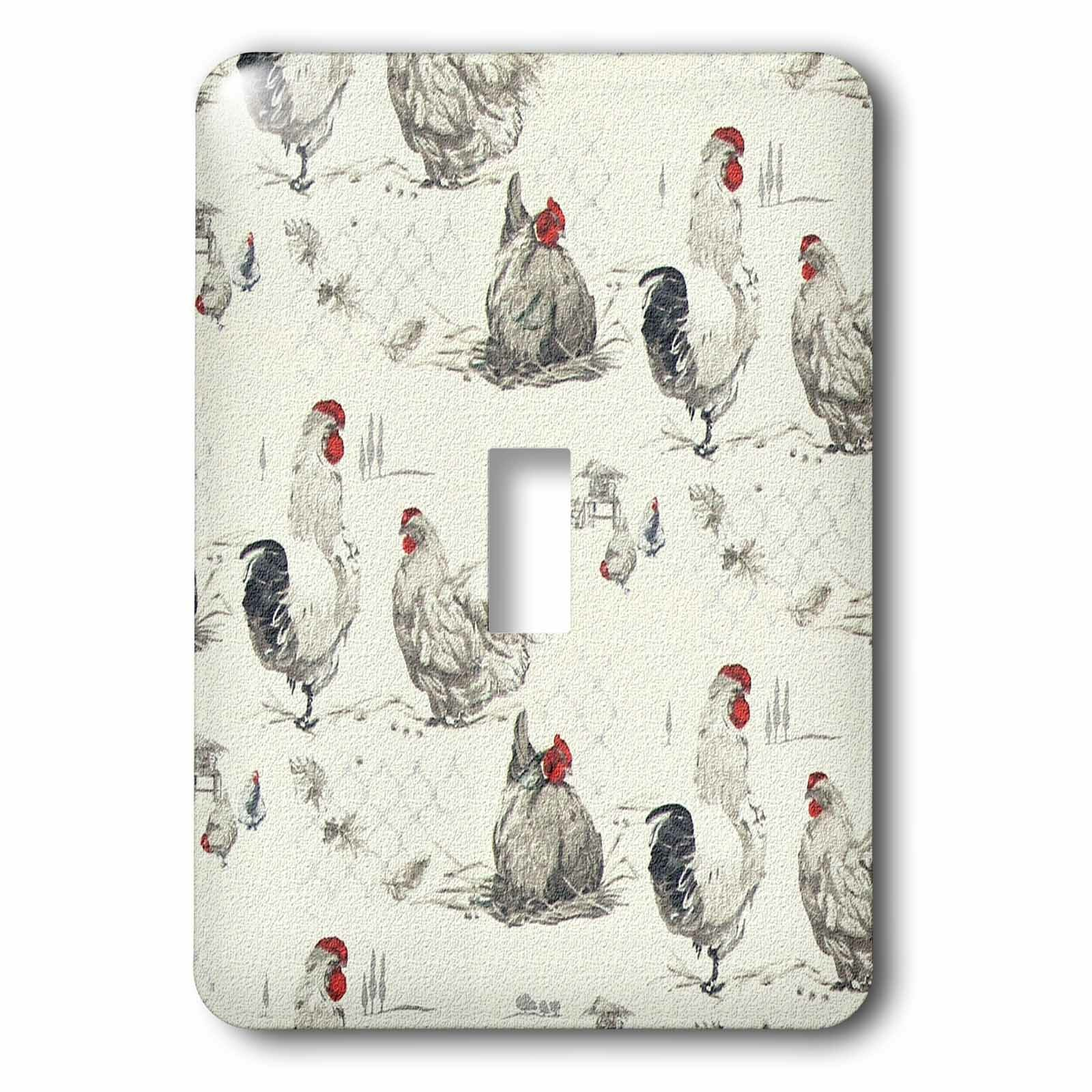 3drose Rooster Chicken Country Farm 1 Gang Toggle Light Switch Wall Plate Wayfair