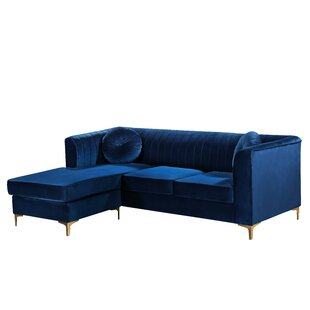 Contemporary Royal Blue Sectional