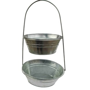 Two Tier Metal Container