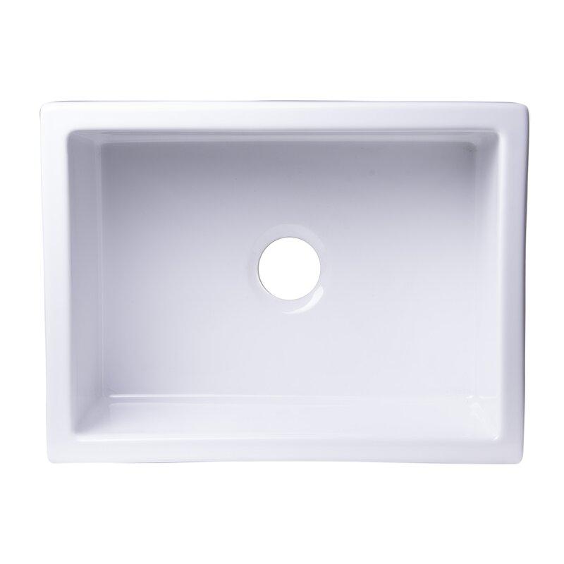 24 L X 18 W Undermount Fireclay Kitchen Sink