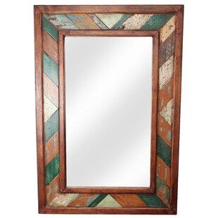 My Amigos Imports Folk Art Rustic Accent Mirror