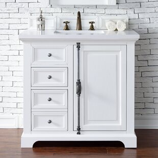 Ogallala 36 Single Cottage White Wood Base Bathroom Vanity Set by Greyleigh