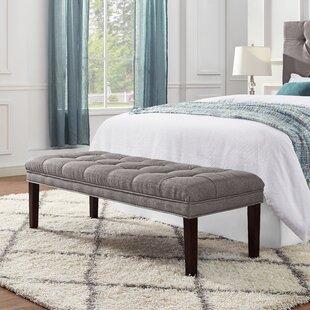 Charlton Home Shiffer Upholstered Tufted Bench