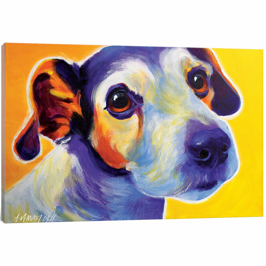 East Urban Home Mudgee The Jack Russell Painting Print On Canvas Wayfair