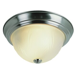 Savings Evangeline 1-Light Flush Mount By Charlton Home