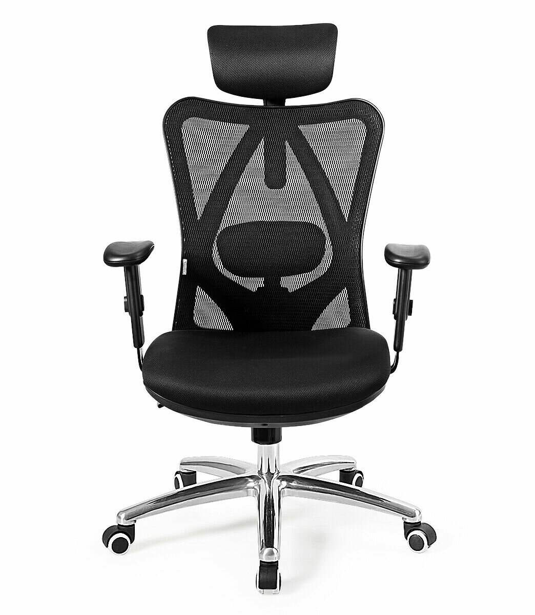 Ebern Designs High Back Mesh Office Chair Adjustable Lumbar Support Headrest Home Study Black Wayfair