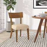 Theodosia Upholstered Solid Wood Slat Back Side Chair by Zipcode Design™