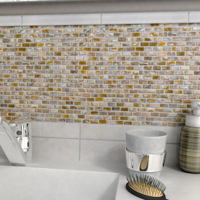 S Subway 0 38 X 75 Seashell Mosaic Tile