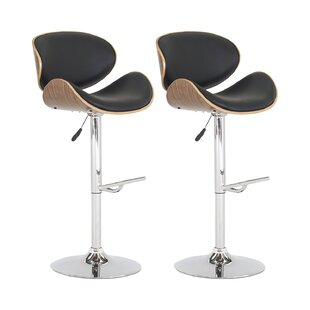 Cheap Price Rocco Height Adjustable Swivel Bar Stool (Set Of 2)