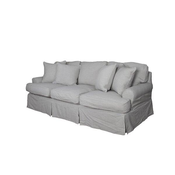 August Grove Callie T Cushion Sofa Slipcover Amp Reviews