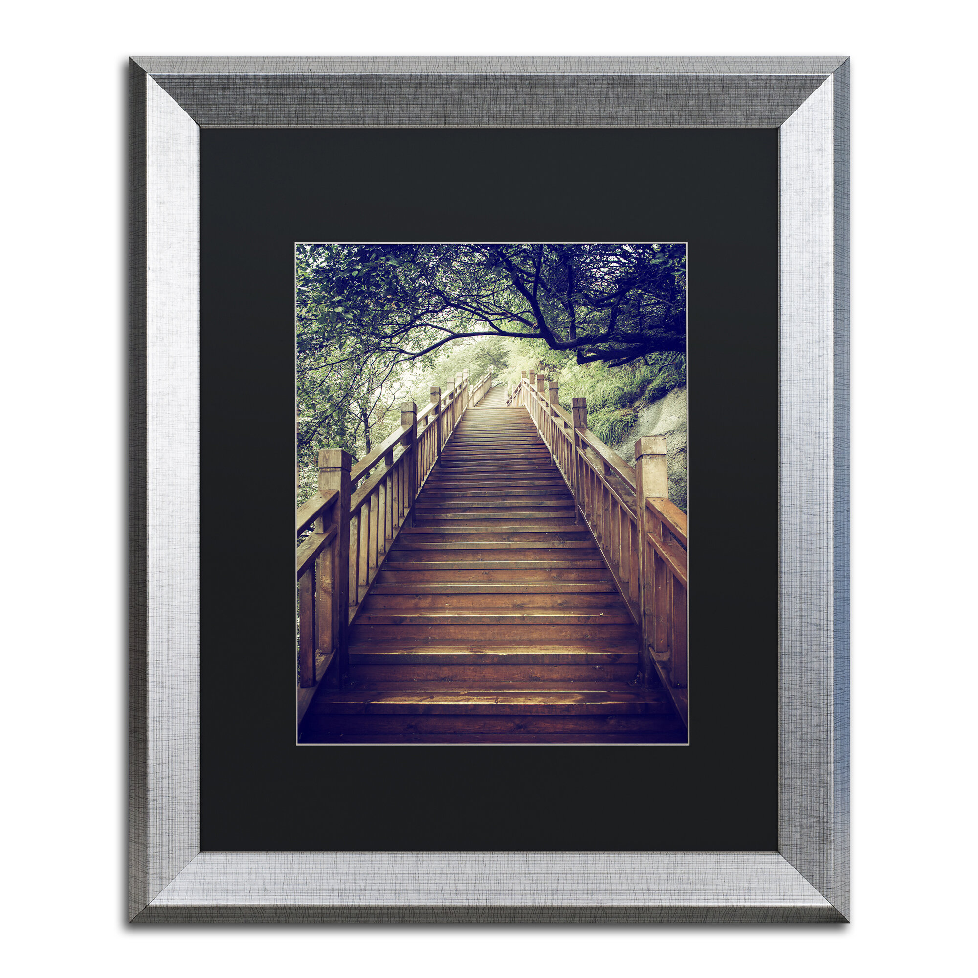 Trademark Art Staircase By Philippe Hugonnard Framed Photographic Print Wayfair