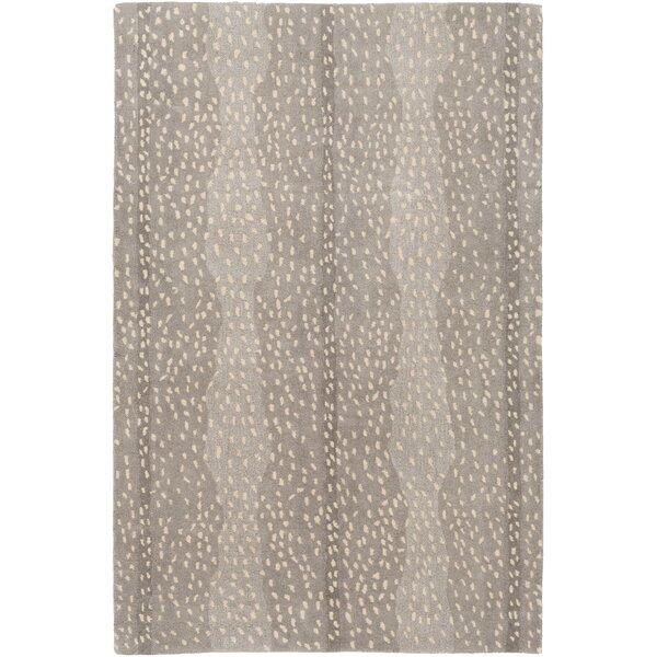 Surya Gazelle Striped Handmade Tufted Wool Light Gray Taupe Area Rug Wayfair