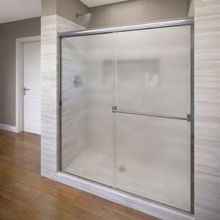 Find a Classic 40 x 65.5 Frameless Bypass Sliding Shower Door ByBasco