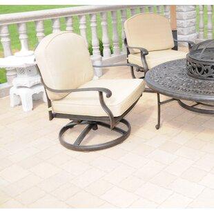 Midfield Swivel Patio Chair with Sunbrella Cushions (Set of 2) by House of Hampton