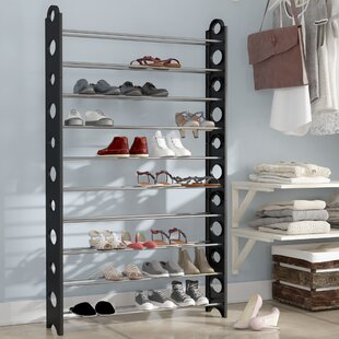Find a 10-Tier 50 Pair Shoe Rack By Rebrilliant