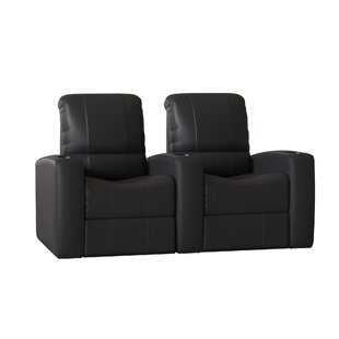Leather Home Theater Recliner (Row of 2) by Latitude Run