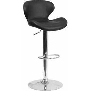 Whelan Mid Back Adjustable Height Swivel Bar Stool Orren Ellis