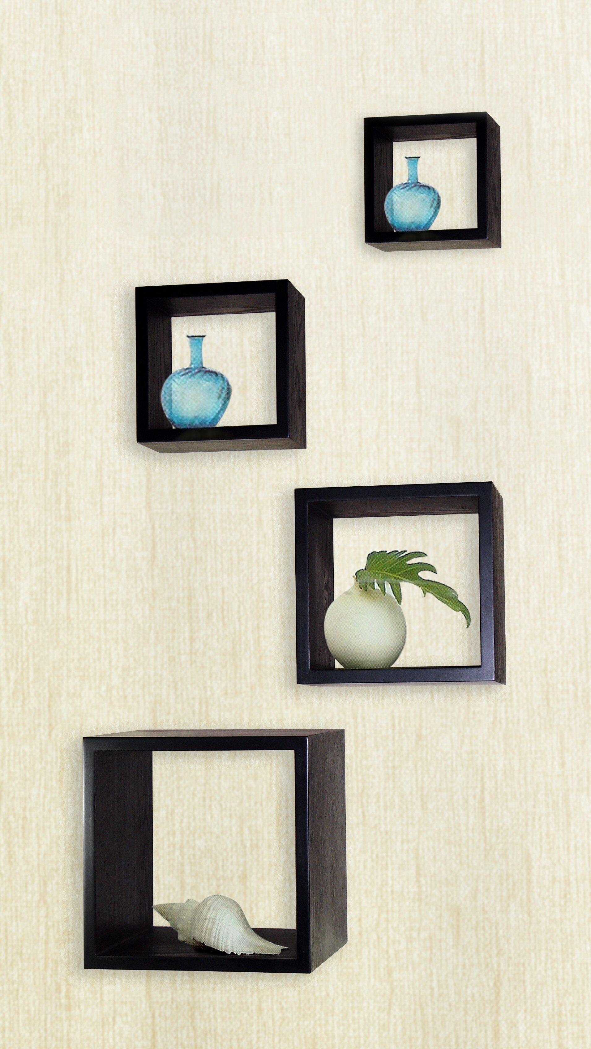 ebern designs flanigan 4 piece cube wall d cor set wayfair rh wayfair com