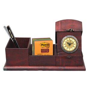 Antique Wood Desk Organizer