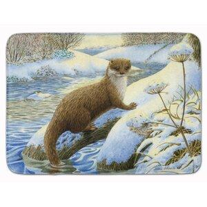 Winter Otter Memory Foam Bath Rug