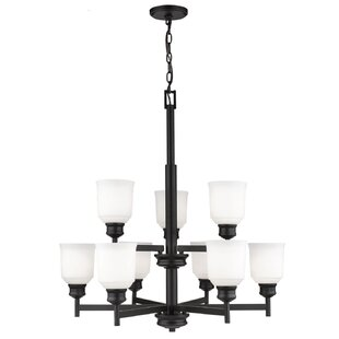 Winston Porter Zeke 9-Light Shaded Chandelier