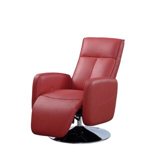 Lucama Leather Handle Manual Recliner by Latitude Run