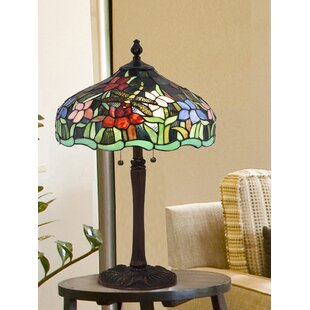Desideria Fawn Dragonfly Tiffany 24.5 Table Lamp