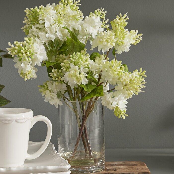 Quincy Lilac Silk Flower Arrangement In Vase