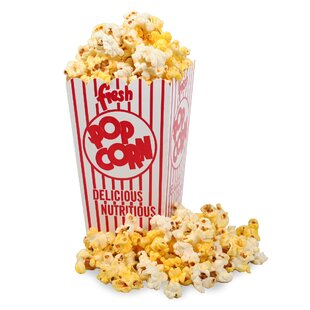 Movie Theater Popcorn Box with Open Top