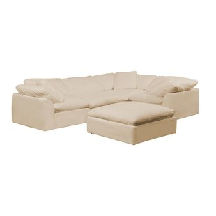 Caitlynne Slipcovered Reversible Modular Sectional with Ottoman by Latitude Run