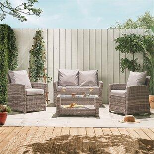 Bhoyar 4 Seater Rattan Effect Sofa Set By Sol 72 Outdoor