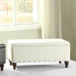 Charlton Home Rozell Upholstered Storage Bench