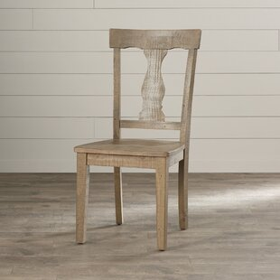 Damascus Solid Wood Dining Chair (Set of 2) August Grove