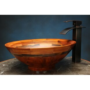 Inexpensive Canyon Wood Circular Vessel Bathroom Sink By Novatto