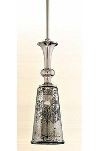 Argento 1-Light Bell Pendant by Corbett Lighting
