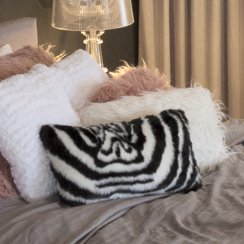 Amazing Deal on Beirut Denton Zebra Faux Fur Throw Pillow