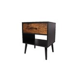 Harshad 1 - Drawer Solid Wood Nightstand in Black by Corrigan Studio®