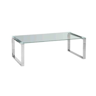 Sagebrook Home Stainless Steel and Glass Coffee Table