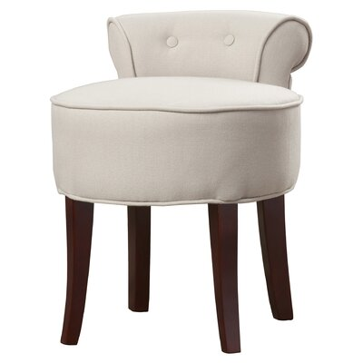 Chloe Vanity Stool Color: Taupe by Alcott Hill