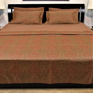 Hutter Genuine Jacquard Damask 350 Thread Count 100 Cotton Sheet Set