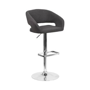 Spade Adjustable Height Swivel Bar Stool by Orren Ellis Great Reviews