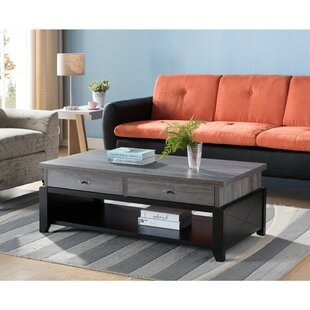 Winston Porter Cawley Wooden Coffee Table with Storage