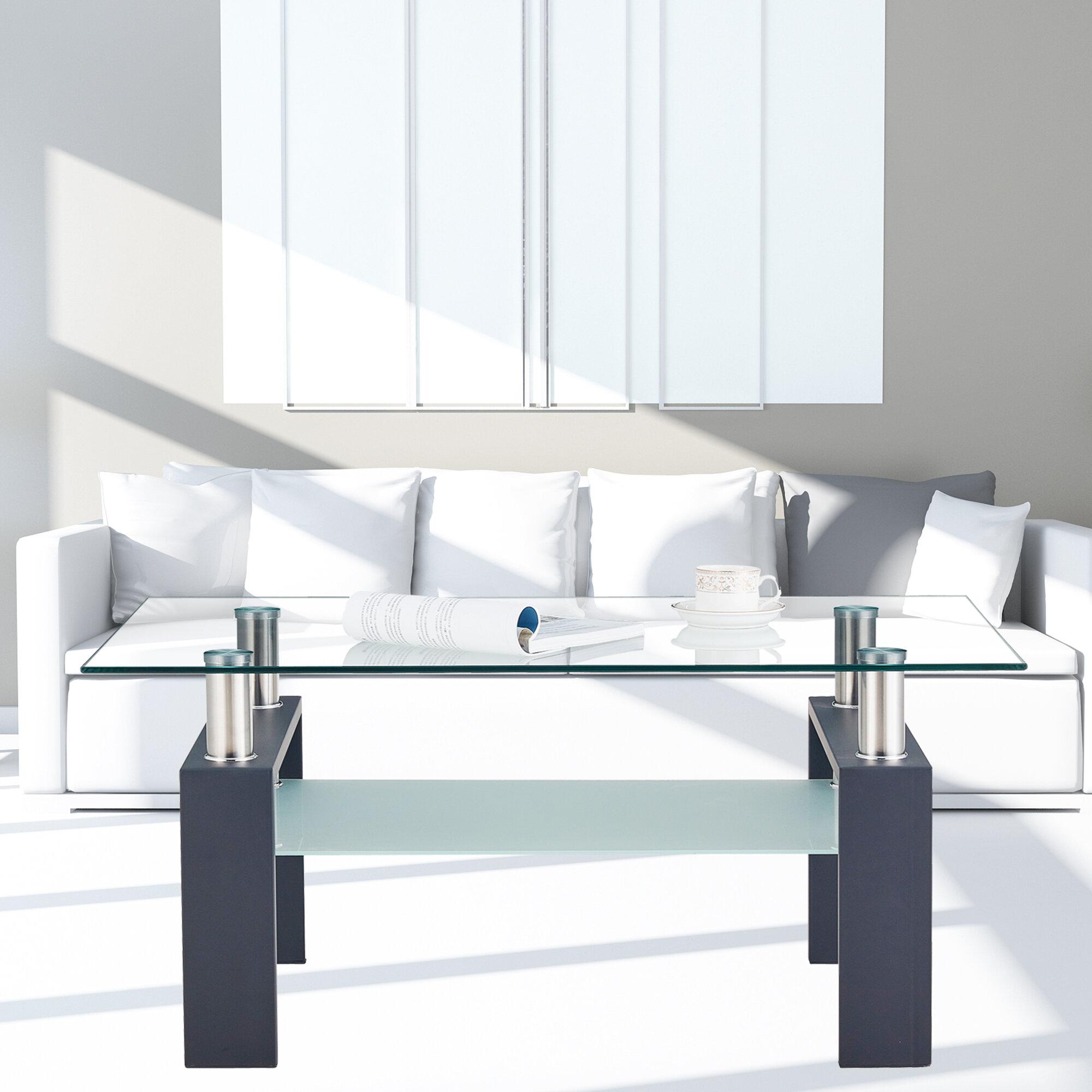 Orren Ellis Botti Sled Coffee Table With Storage Wayfair